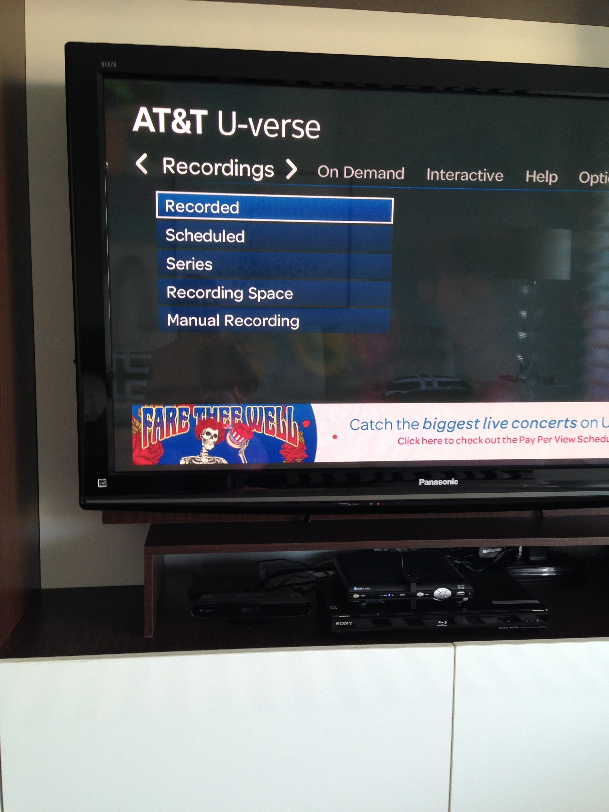 AT&T U-Verse with PVR recording (up to 450 channels, HBO, Showtime, Cinemax. The Movie Channel)